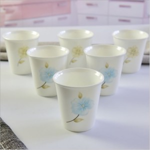 Bone china imitation paper cup