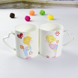 bone china couple cups