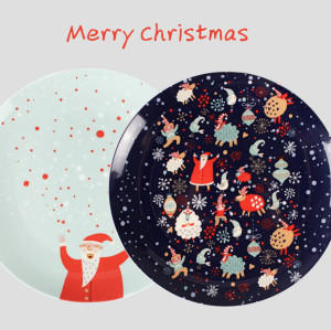 Santa Claus bone china plate