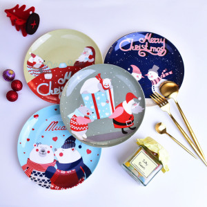 Christmas bone china plate