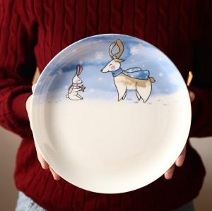 Christmas snowflake plate