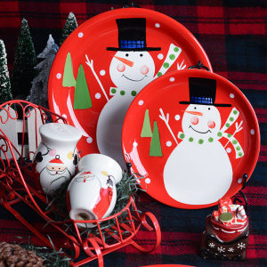 Christmas painted dishes
