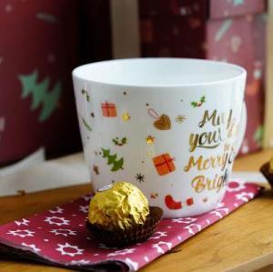 Christmas porcelain mug