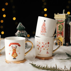 Christmas ceramic mugs