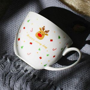 Christmas bone china cup