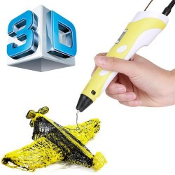 3D Printing Pen,Drawing Printing Pen, Gifts and Toys for Boys & Girls - Modern Arts and Crafts Tool(Yellow)