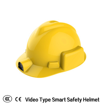 smart safety helmet with built in camera construction engineering safety helmet used in construction/coal mining/fire safety /engineering