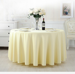 wholesale high quality smooth fabric polyester hotel wedding tablecloth