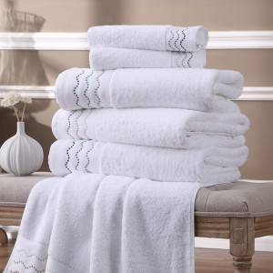 5 star hotel 100% cotton new design soft touch white face towel