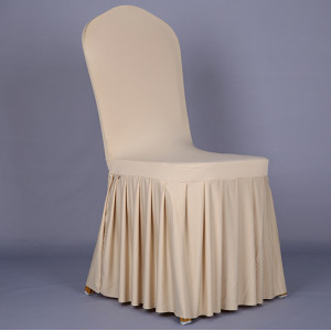 Pleatedskirt spandex hotel chair cover thicken wedding chair covers