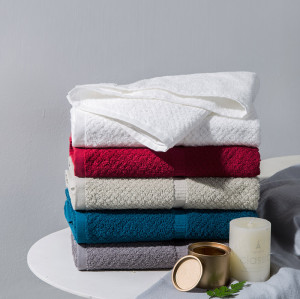 100% cotton wholesale solid color soft touch for bath towel face towel