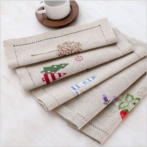 Cotton and linen Japanese cloth art simple placemat table mat cheap napkin