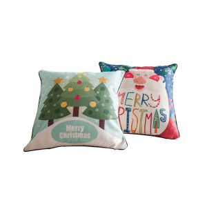 Santa Claus cartoon pillow gift for Christmas soft and comfortable many colors