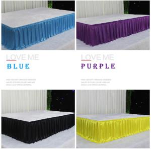 Wedding props T platform skirt stage table skirt wrap bridal hotel supplies