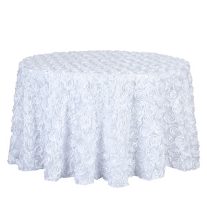 3D rose embroidery roundtable hotel wedding party tablecloth