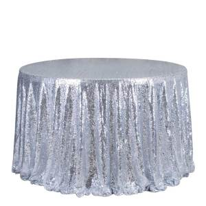 Encrypting glitter sequins wedding banquet champagne table decoretive round tablecloth