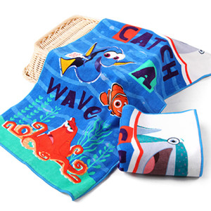 Disney Finding Nemo Digital printing towels full cotton large size lovely cotton bath towel