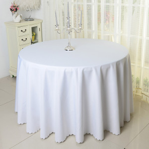 Thicken plain dyed wedding banquet round wholesales tablecloth