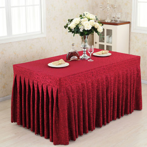 Wedding exhibition activity checker desk skirt table cover set cold dining tablecloth