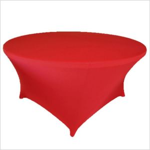 Factory sale spandex round table wedding outdoor tablecloth
