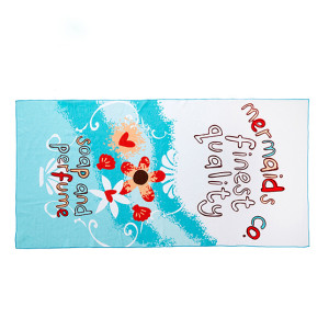 Mermaid digital printed cotton towel for children full cotton customized color face towel