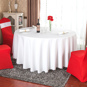 European style product hotel round table hot sale high quality pure color wedding tablecloth