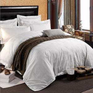 【中悦】工厂现货床上用品酒店宾馆四件套纯棉60支贡缎提花四件套