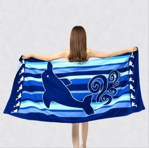 厂家直销外贸毛巾 沙滩巾 超细纤维活性印花浴巾 可来图来样定制