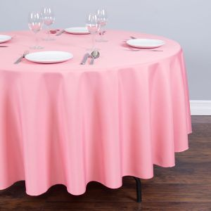 Zhongyue round polyester tablecloth strawberry ice
