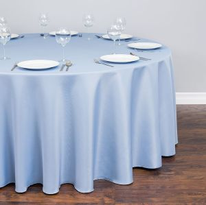 Zhongyue round polyester tablecloth banquet wedding serenity blue