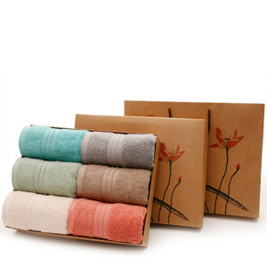 Pure cotton towel with thick soft and comfortable absorption adult face towel gift box