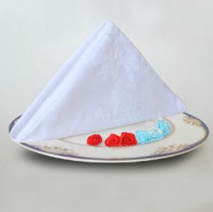 【中悦】广州工厂直销 酒店布草纯棉可折花西餐餐巾 可定制尺寸