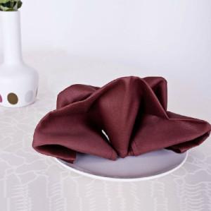 五星级酒店餐厅专用中西餐巾提花多色折花口布擦嘴布席巾