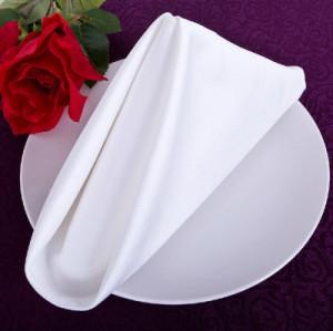 【中悦】酒店布草纯棉西餐巾 可折花餐巾擦嘴布 工厂定制LOGO尺寸