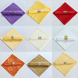 Factory colorful cheap plain woven hotel wedding napkin