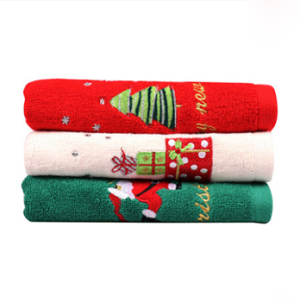 Happy Life imported Christmas towel gift box christmas present cotton washcloth