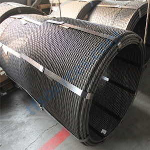 Brin en acier concret précontraint de brin d'acier de PC de 15.24mm