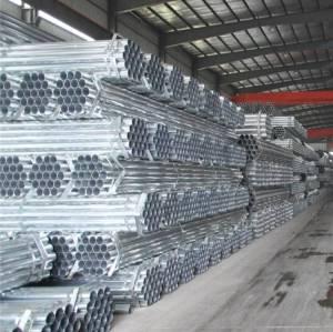 vente en gros Tuyau en acier galvanisé à finition zinc lisse