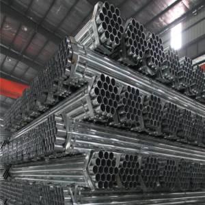 Tubo in acciaio zincato anticorrosione per la costruzione di recinzioni
