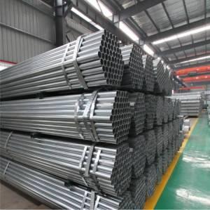 Tubo in acciaio zincato a caldo per la costruzione