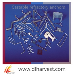 Refractory anchors / refractory wave anchor / Y V U crook anchor