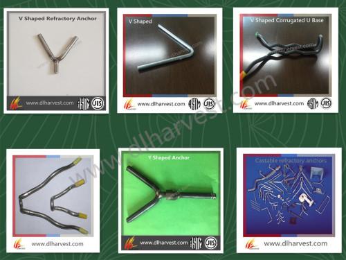 Anclajes refractarios / anclaje de onda refractaria / Y V U anclaje de banda