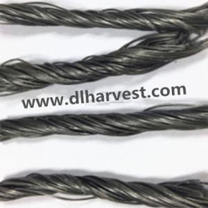 Fibre de vague de la fibre PP Twist de pp pour le béton