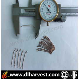 Zugfestigkeit> 2800MPa Kupfer Coated Micro Steel Fiber