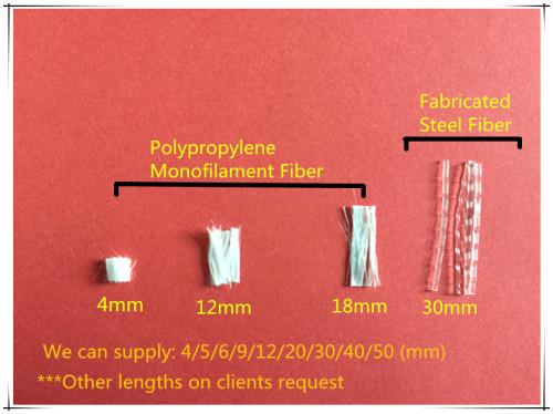 Polypropyplene PP Crude Fiber en lugar de fibra de acero