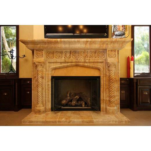 How to clean and maintain marble stone fireplace?