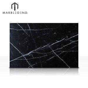 Precio de fábrica China Mármol negro con vetas blancas Nero Marquina Marble Slab