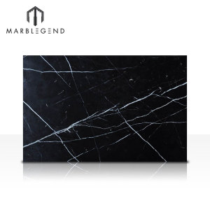 Factory Price China Black Marble With White Veins Nero Marquina Marble Slab