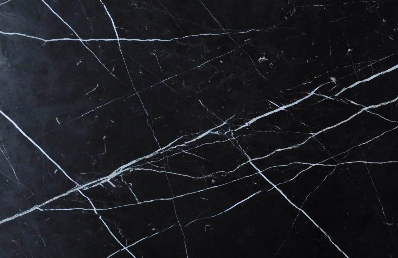 Factory Price China Black Marble White Veins Nero Marquina Slab Pfm Stone