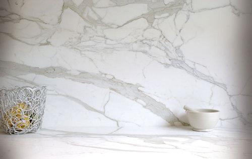 Lujoso y fácil mantenimiento mármol blanco italiano natural calacatta oro